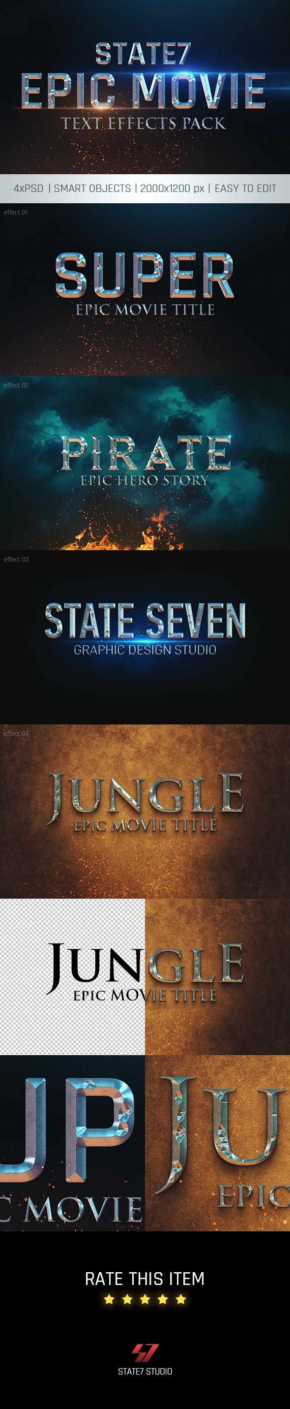 Cinematic Text Effect - Text Effects Actions