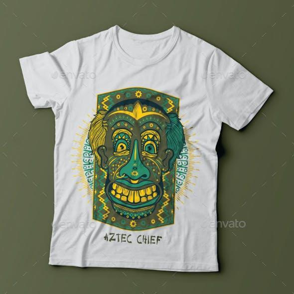 Aztec Chief Tshirt Design