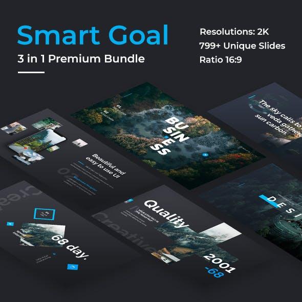 Smart Goals Premium 3 in 1 Bundle Keynote  Template