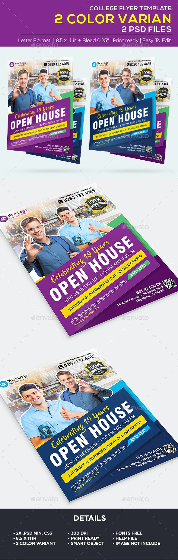 Business College Flyer - Open House Flyer - Corporate Flyers