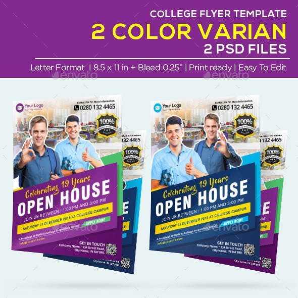 Business College Flyer - Open House Flyer