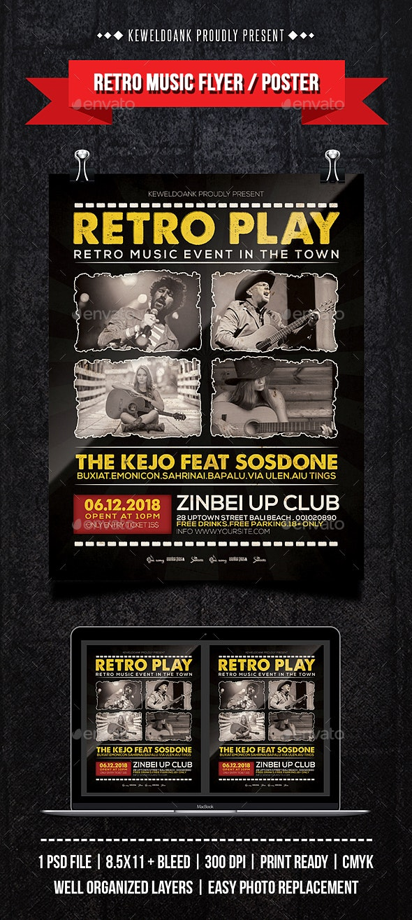 Retro Music Flyer / Poster - Events Flyers