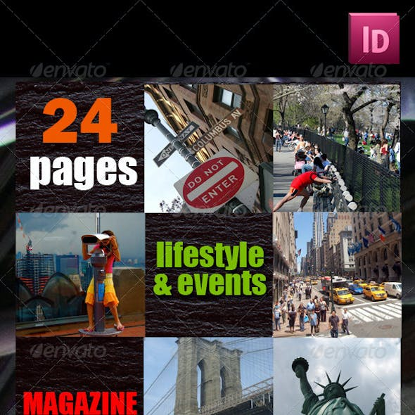 24 Pages Lifestyle & Events Magazine Version One