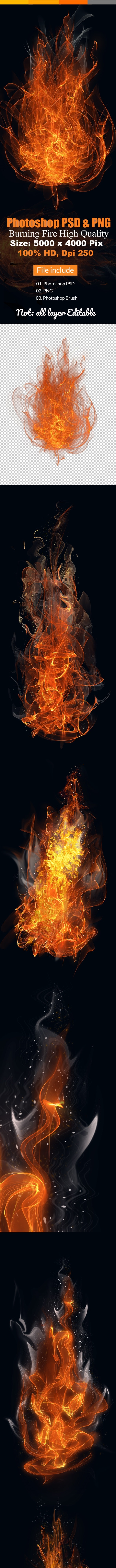 Fire & Flames Brushes High Quality - Abstract Brushes