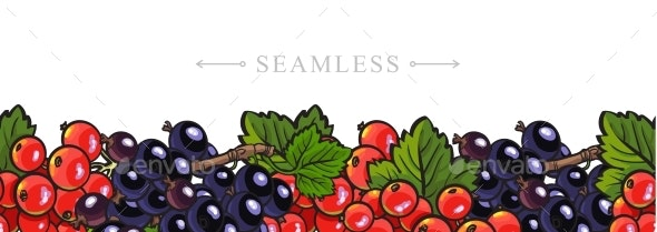 Leaves Seamless Border Frame Background - Food Objects