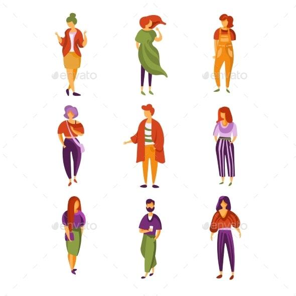 Stylish People Set - People Characters