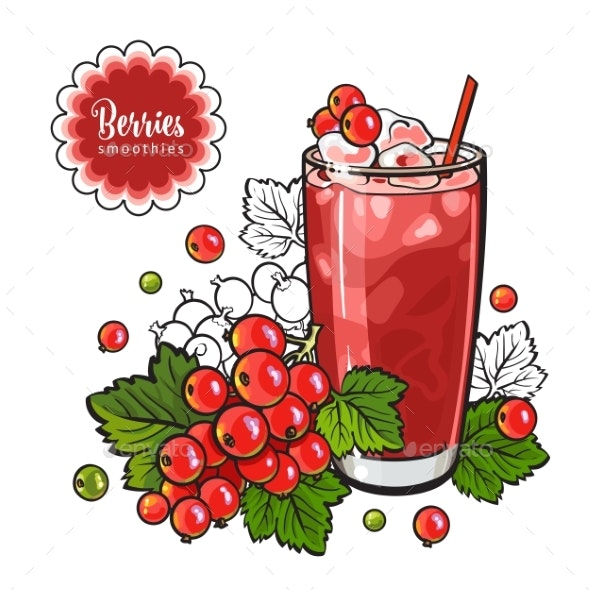 Red Currant Smoothie - Food Objects