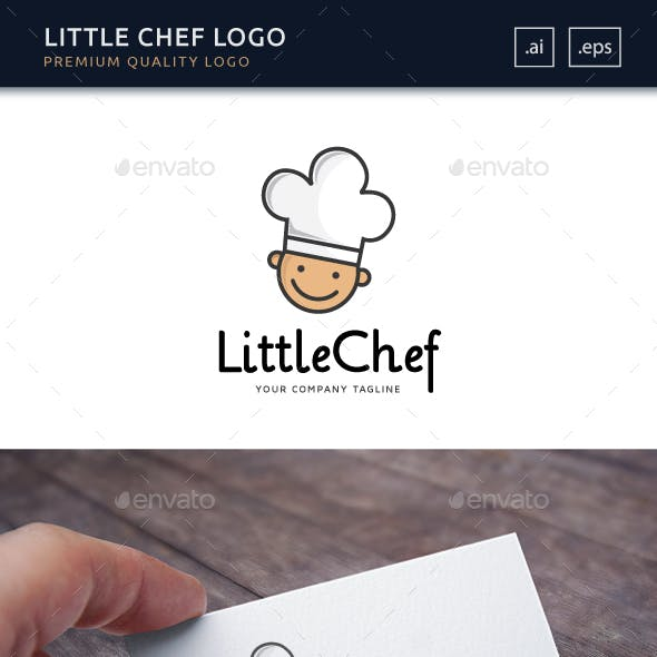 Little Chef Logo Template