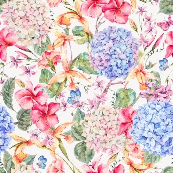 Vector Vintage Floral Greeting Card