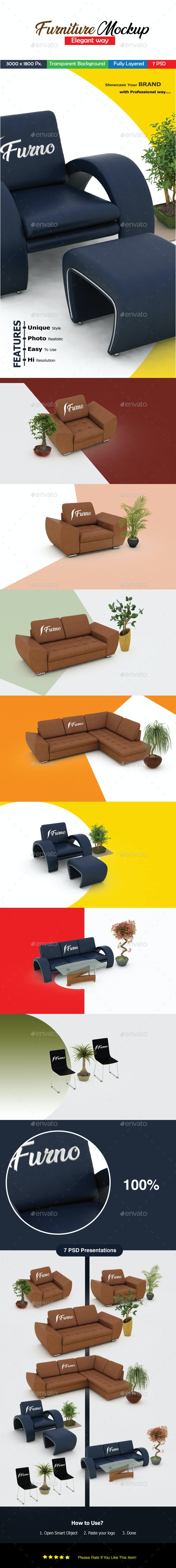 Furniture Mockup - Product Mock-Ups Graphics