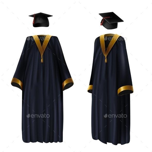 Graduation Clothing - Miscellaneous Vectors