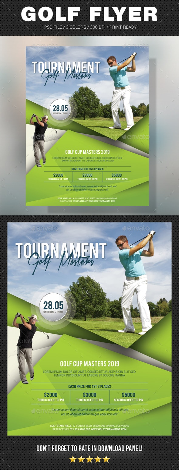 Golf Flyer V2 - Sports Events