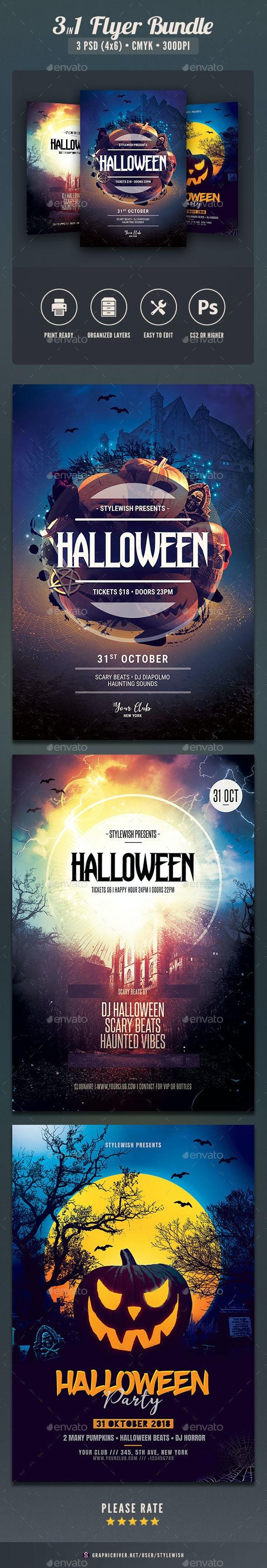 Halloween Flyer Bundle Vol.05 - Clubs & Parties Events