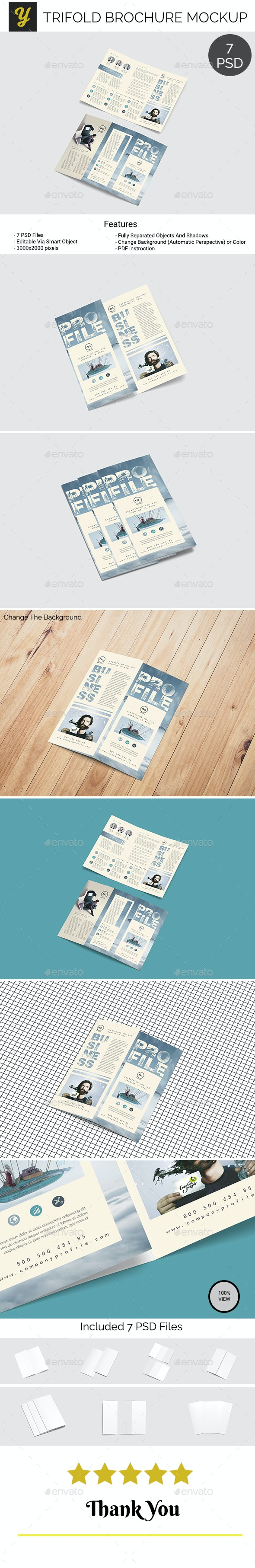 Trifold Brochure Mockup Vol.2 - Brochures Print