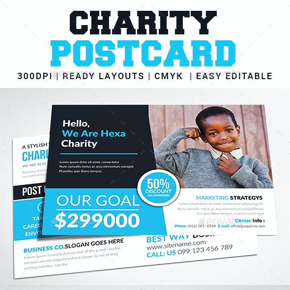 Charity Fundraisers Postcard