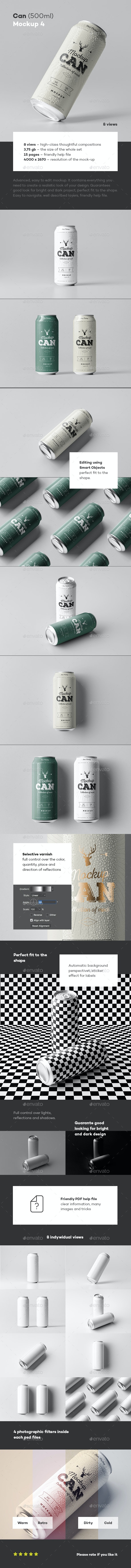 Can Mock-up 4 - Food and Drink Packaging