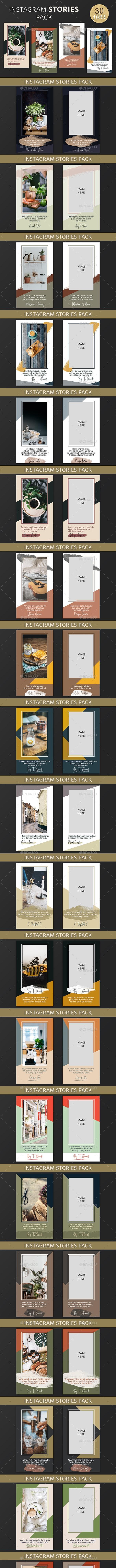 Instagram Stories Pack - Social Media Web Elements