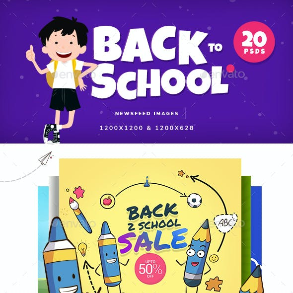 Back To School Facebook & Instagram Ad Banners