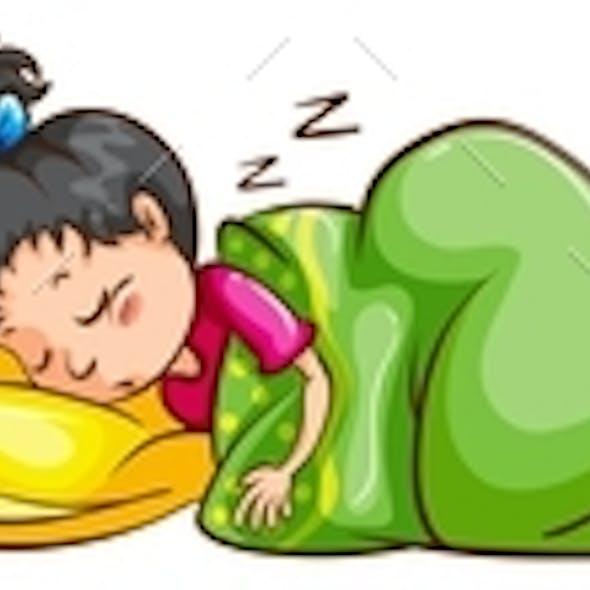 Set of Sleeping Women