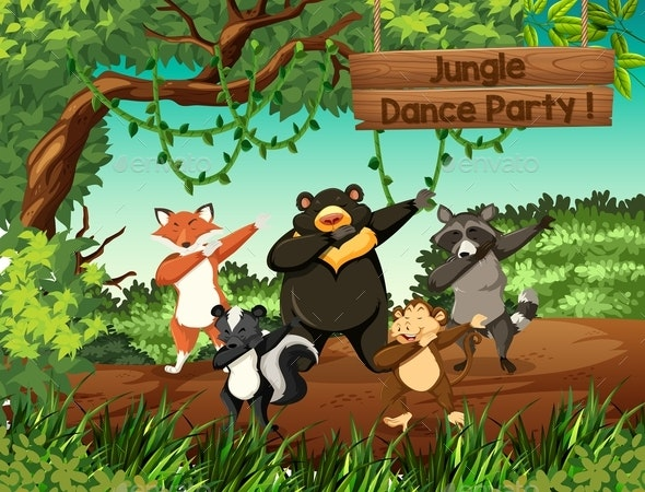 Wild Animals Jungle Dance Party - Animals Characters