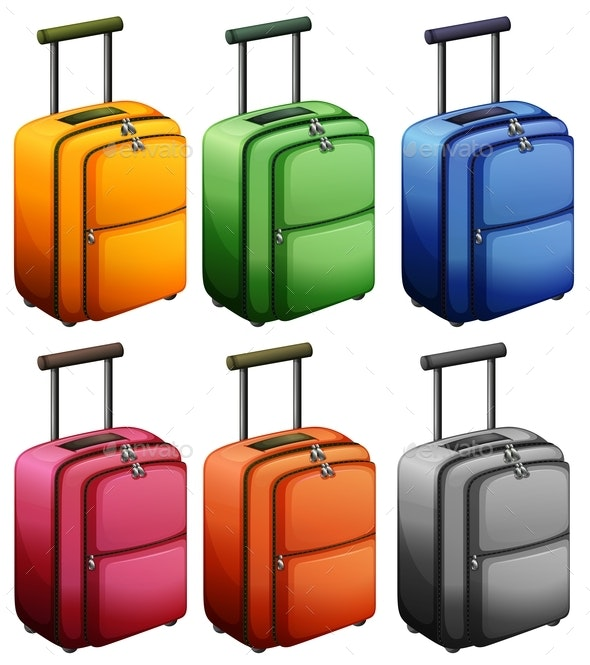 Luggage in Six Colors - Man-made Objects Objects