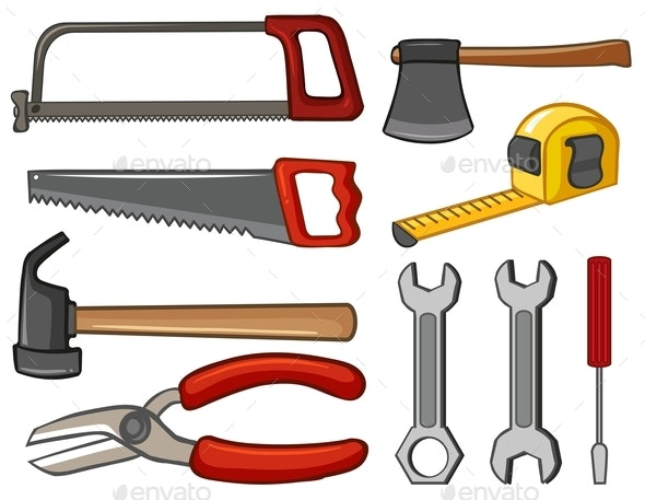Different Types of Hand Tools - Man-made Objects Objects