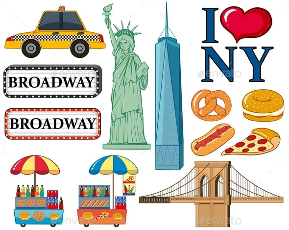 Travel Icons For New York City - Man-made Objects Objects