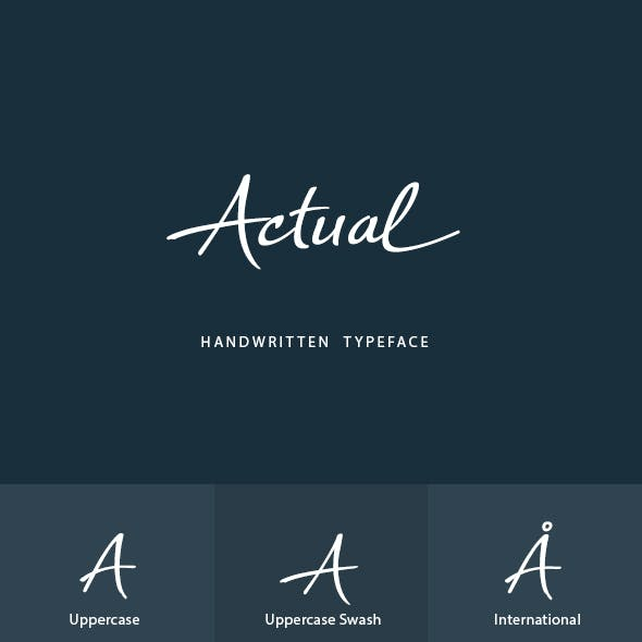 Actual Handwritten Font