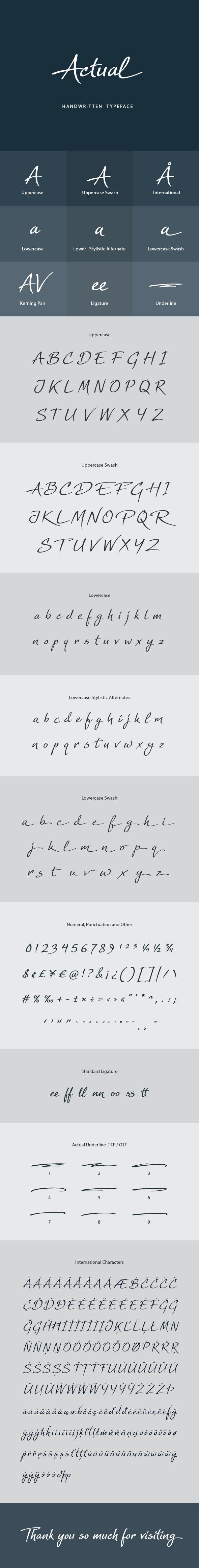 Actual Handwritten Font - Handwriting Fonts