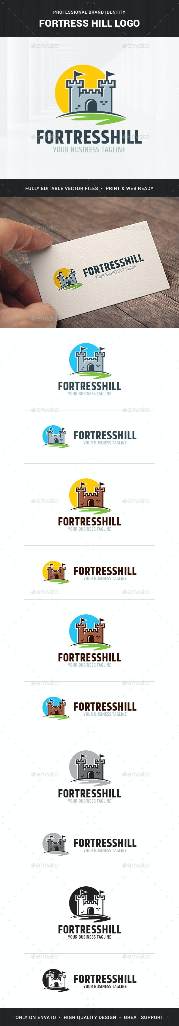 Fortress Hill Logo Template - Buildings Logo Templates