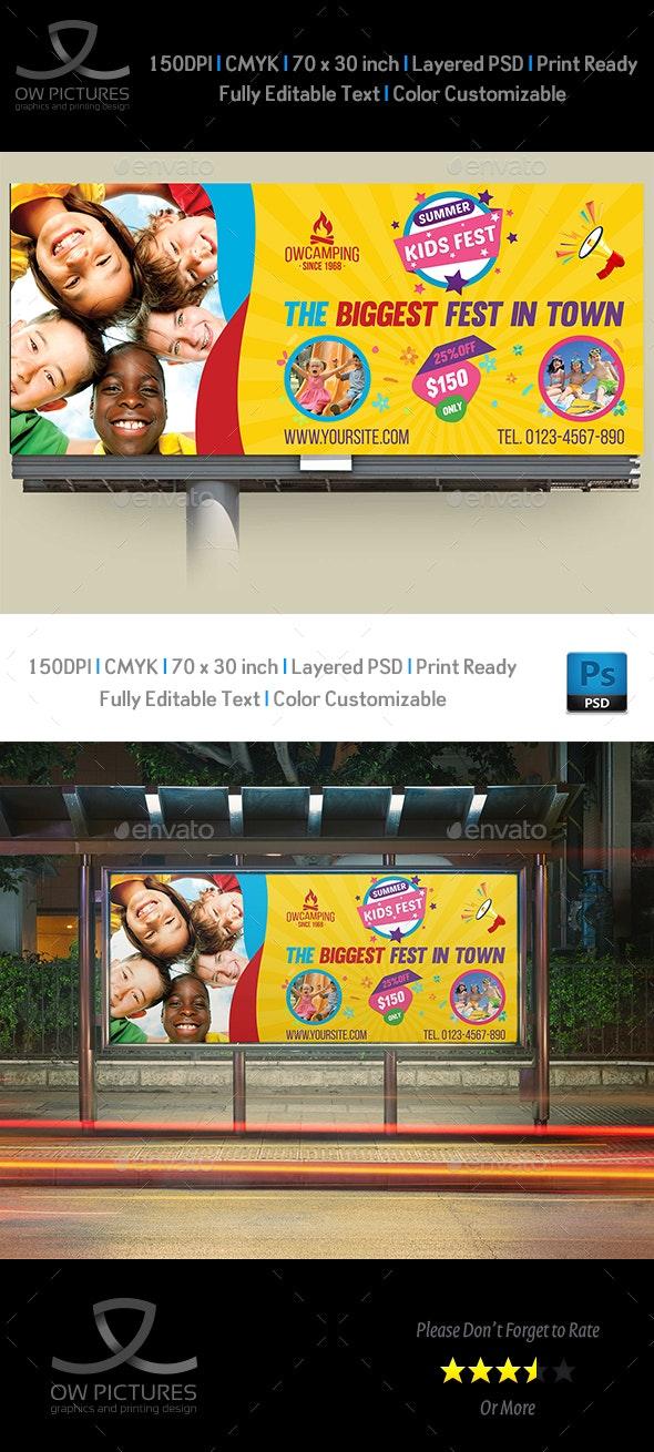 Kids Summer Camp Billboard Template Vol.2 - Signage Print Templates