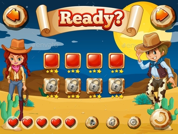 Cowboy Game - Miscellaneous Vectors