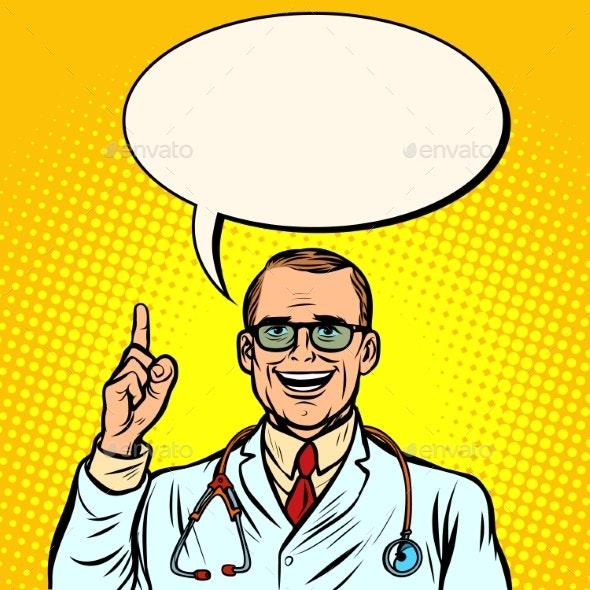 Joyful Male Doctor - Health/Medicine Conceptual