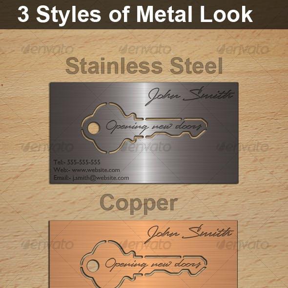 Metal Look Key Cutout Card, 3 Styles