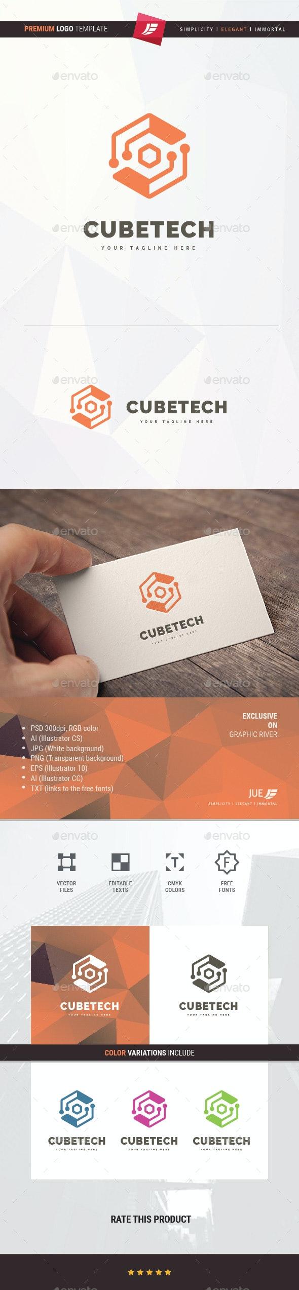 Cube Tech Logo - 3d Abstract