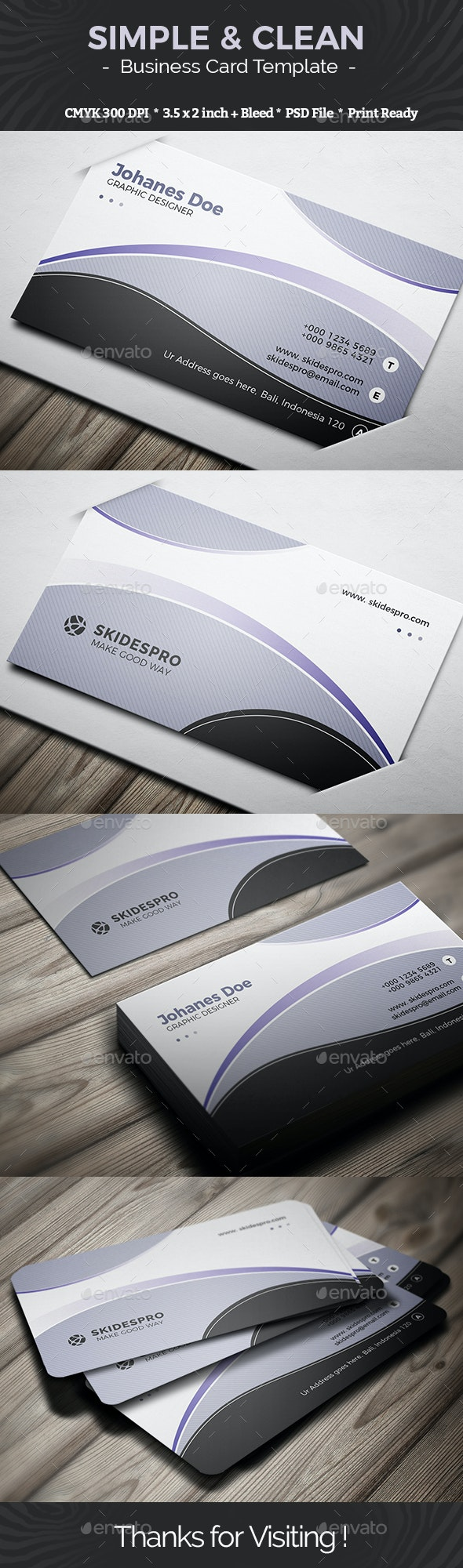 Simple & Clean - Creative Business Cards