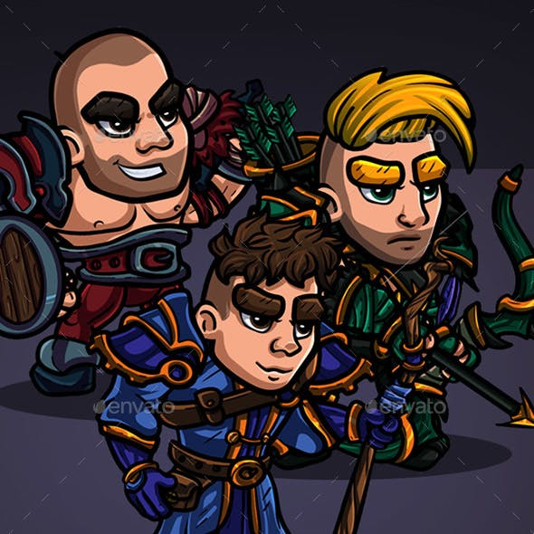 2D Character Pack - Human Heroes