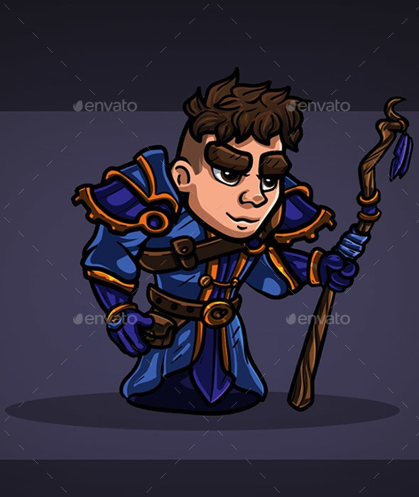 2D Character - Human Mage - Sprites Game Assets