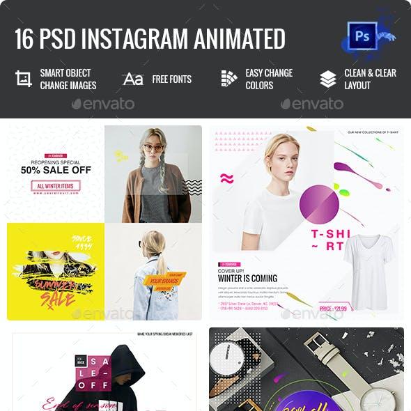 Fashion Instagram Animated Posts - 16 PSD