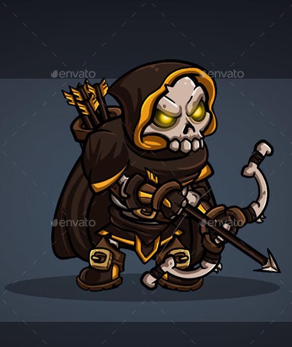 2D Character - Skeleton Archer - Sprites Game Assets