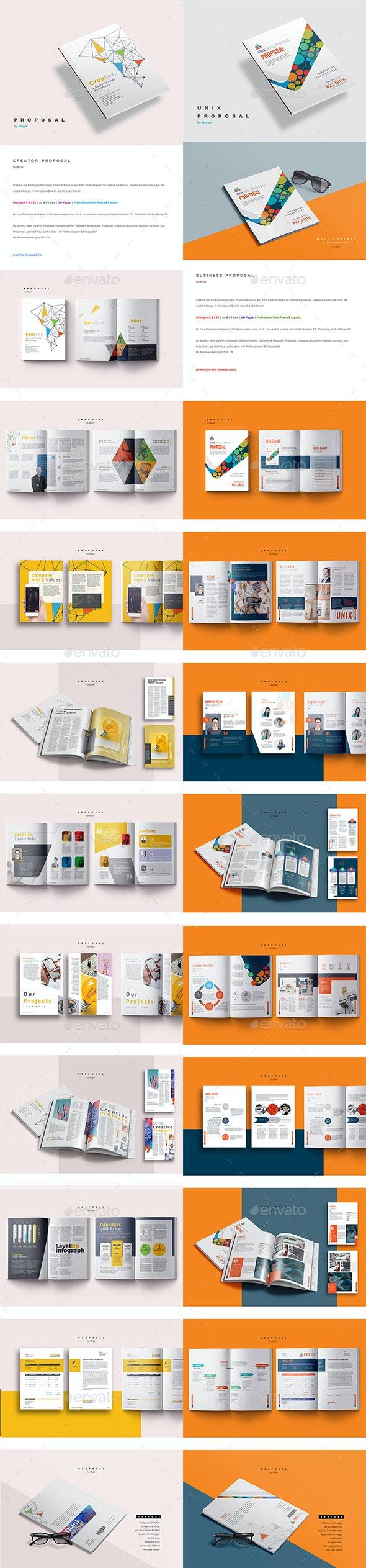 Proposals Bundle - Proposals & Invoices Stationery