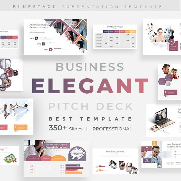 Elegant Business Pitch Deck Powewpoint Template
