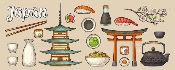 Japan Set - Food Objects
