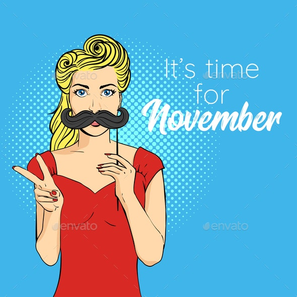 It's Time for November - People Characters