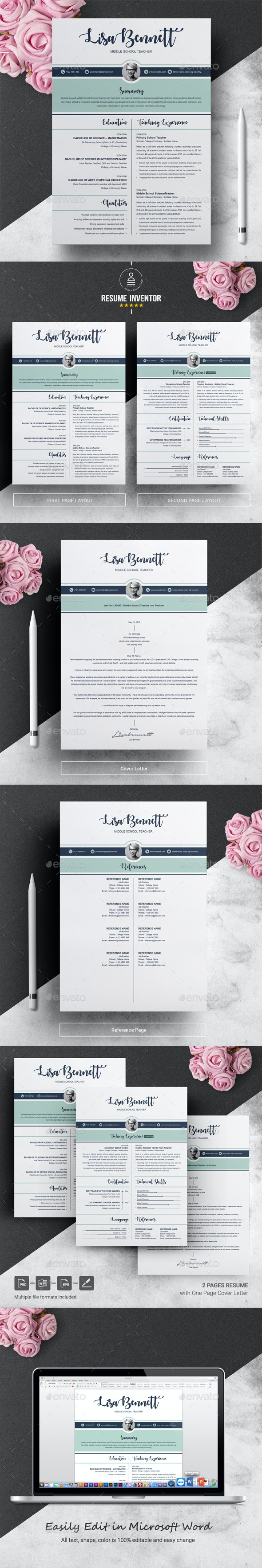 Resume Template Teacher from graphicriver.img.customer.envatousercontent.com