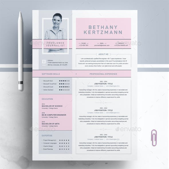 Creative CV / Resume Design for Freelance and Journalist