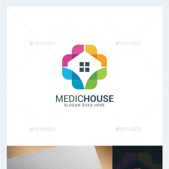 Medical House Logo Template