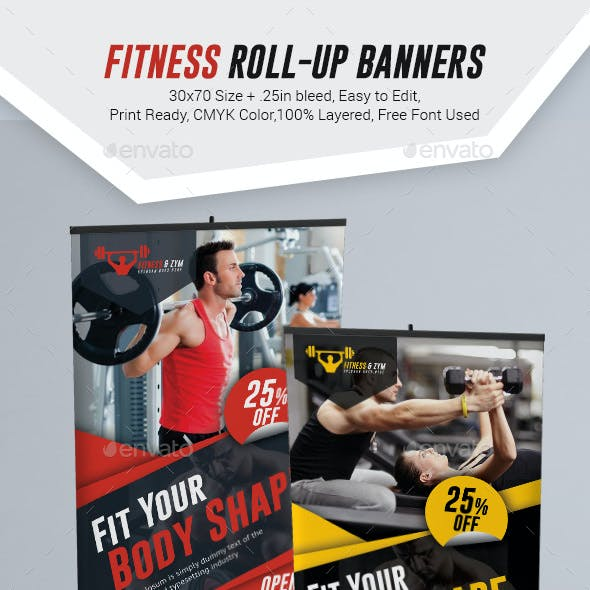 Fitness Roll Up Banner