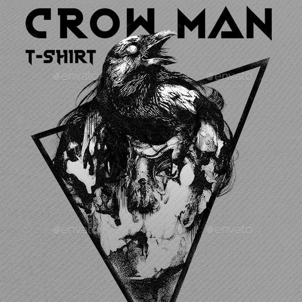 Crow man t-shirt