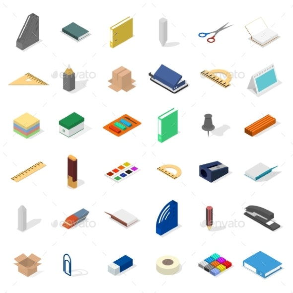 Set of Icons for Office and School - Miscellaneous Vectors